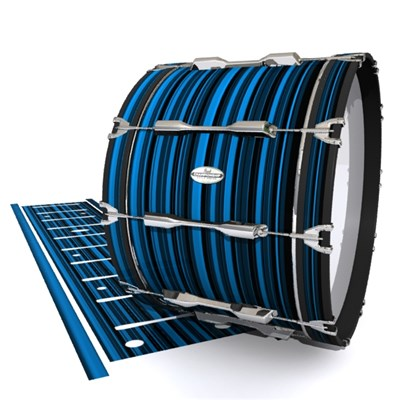 Pearl Championship Maple Bass Drum Slip - Blue Horizon Stripes (Blue)