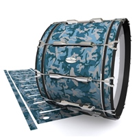 Pearl Championship Maple Bass Drum Slip - Blue Slate Traditional Camouflage (Blue)