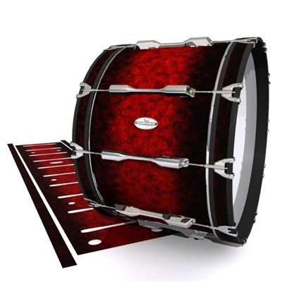 Pearl Championship Maple Bass Drum Slip - Burning Embers (red)