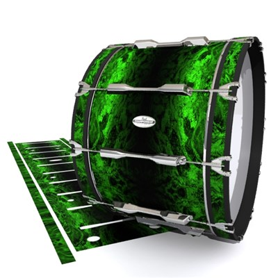 Pearl Championship Maple Bass Drum Slip - Forest GEO Marble Fade (Green)