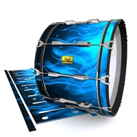 Pearl Championship Maple Bass Drum Slip (Old) - Blue Flames (Themed)
