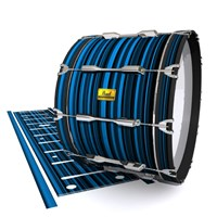 Pearl Championship Maple Bass Drum Slip (Old) - Blue Horizon Stripes (Blue)