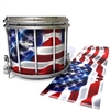 Pearl Championship CarbonCore Snare Drum Slip - Stylized American Flag