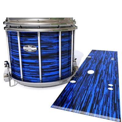 Pearl Championship CarbonCore Snare Drum Slip - Chaos Brush Strokes Blue and Black (Blue)