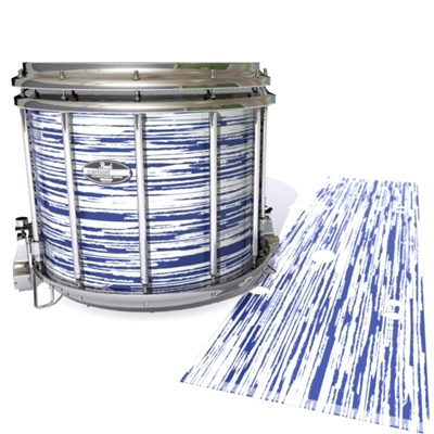 Pearl Championship CarbonCore Snare Drum Slip - Chaos Brush Strokes Navy Blue and White (Blue)