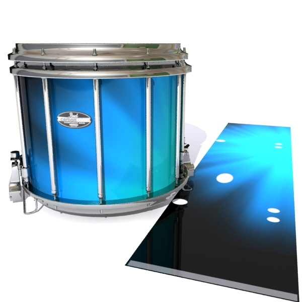 pearl championship carboncore snare drum slip blue light rays themed. Black Bedroom Furniture Sets. Home Design Ideas