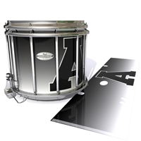Pearl Championship Maple Snare Drum Slip - Athletic Block Letter Fade (Choose Your Colors)