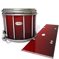 Pearl Championship Maple Snare Drum Slip - Apple Maple Fade (Red)