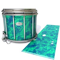 Pearl Championship Maple Snare Drum Slip - Aqua Cosmic Glass (Aqua)