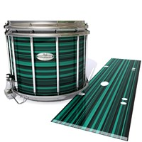 Pearl Championship Maple Snare Drum Slip - Aqua Horizon Stripes (Aqua)