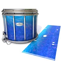 Pearl Championship Maple Snare Drum Slip - Aquatic Blue Fade (Blue)