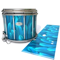 Pearl Championship Maple Snare Drum Slip - Blue Feathers (Themed)