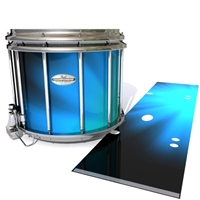 Pearl Championship Maple Snare Drum Slip - Blue Light Rays (Themed)