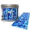 Pearl Championship Maple Snare Drum Slip - Blue Wing Traditional Camouflage (Blue)