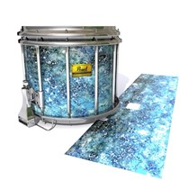 Pearl Championship Maple Snare Drum Slip (Old) - Aeriform (Blue)