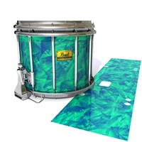 Pearl Championship Maple Snare Drum Slip (Old) - Aqua Cosmic Glass (Aqua)