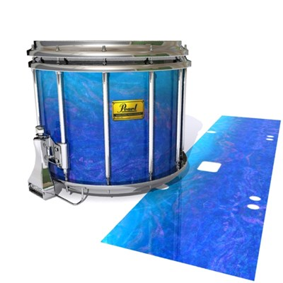 Pearl Championship Maple Snare Drum Slip (Old) - Aquatic Blue Fade (Blue)