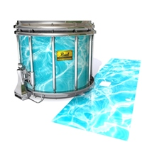 Pearl Championship Maple Snare Drum Slip (Old) - Aquatic Refraction (Themed)