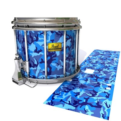 Pearl Championship Maple Snare Drum Slip (Old) - Blue Wing Traditional Camouflage (Blue)