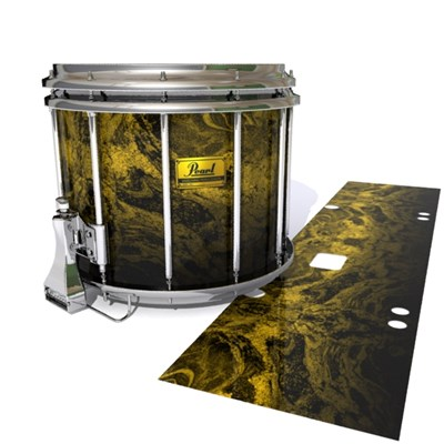Pearl Championship Maple Snare Drum Slip (Old) - Desert GEO Marble Fade (Yellow)