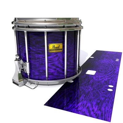 Pearl Championship Maple Snare Drum Slip (Old) - Electric Purple Rosewood (Purple)