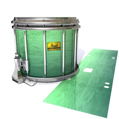 Pearl Championship Maple Snare Drum Slip (Old) - Elusive Green Fade (Green)