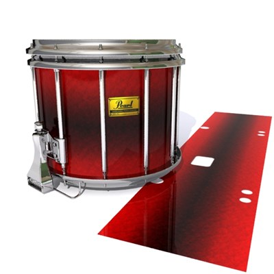 Pearl Championship Maple Snare Drum Slip (Old) - Firestorm (Red)