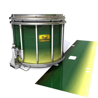 Pearl Championship Maple Snare Drum Slip (Old) - Floridian Maple (Green) (Yellow)
