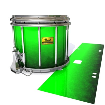 Pearl Championship Maple Snare Drum Slip (Old) - Green Grain Fade (Green)