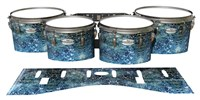 Pearl Championship Maple Tenor Drum Slips - Aeriform (Blue)