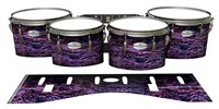 Pearl Championship Maple Tenor Drum Slips - Alien Purple Grain (Purple)