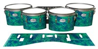 Pearl Championship Maple Tenor Drum Slips - Aqua Cosmic Glass (Aqua)