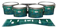 Pearl Championship Maple Tenor Drum Slips - Aquamarine Blue Pearl (Aqua)