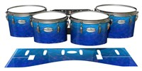 Pearl Championship Maple Tenor Drum Slips - Aquatic Blue Fade (Blue)