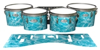 Pearl Championship Maple Tenor Drum Slips - Aquatic Refraction (Themed)