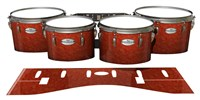 Pearl Championship Maple Tenor Drum Slips - Autumn Fade (Orange)