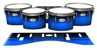Pearl Championship Maple Tenor Drum Slips - Azure Stain Fade (Blue)