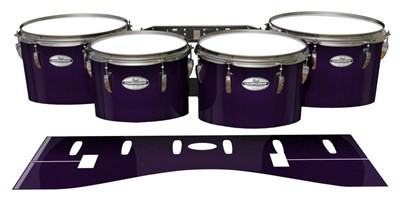 Pearl Championship Maple Tenor Drum Slips - Black Cherry (Purple)