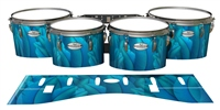 Pearl Championship Maple Tenor Drum Slips - Blue Feathers (Themed)