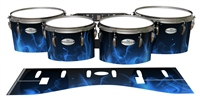 Pearl Championship Maple Tenor Drum Slips - Blue Flames (Themed)