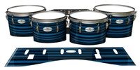 Pearl Championship Maple Tenor Drum Slips - Blue Horizon Stripes (Blue)
