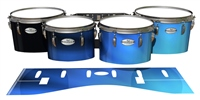 Pearl Championship Maple Tenor Drum Slips - Blue Light Rays (Themed)