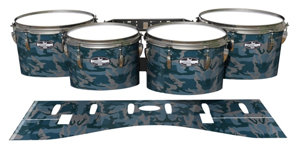 Pearl Championship Maple Tenor Drum Slips - Blue Slate Traditional Camouflage (Blue)