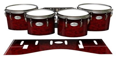 Pearl Championship Maple Tenor Drum Slips - Burning Embers (red)