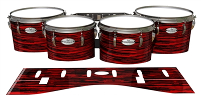 Pearl Championship Maple Tenor Drum Slips - Chaos Brush Strokes Red and Black (Red)