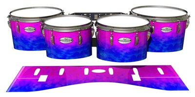 Pearl Championship Maple Tenor Drum Slips - Cotton Candy (Blue) (Pink)
