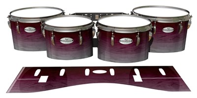 Pearl Championship Maple Tenor Drum Slips - Cranberry Stain (Red)