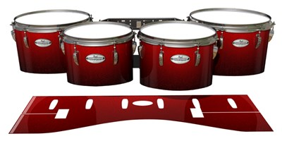 Pearl Championship Maple Tenor Drum Slips - Dragon Red (Red)