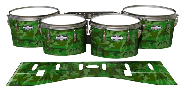 Pearl Championship Maple Tenor Drum Slips - Forest Traditional Camouflage (Green)