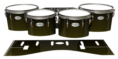 Pearl Championship Maple Tenor Drum Slips - Gold Carbon Fade (Yellow)